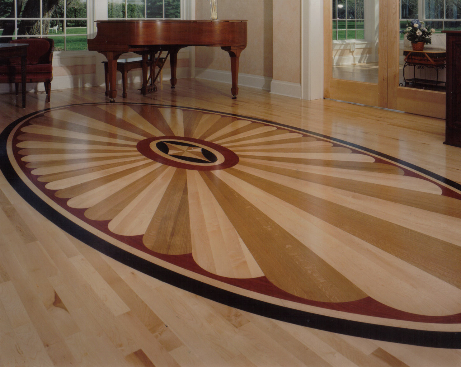 Motifs for Wood flooring design ideas